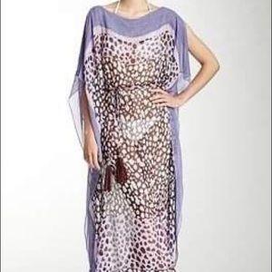 Diane Von Furstenberg silk cover up. Size small